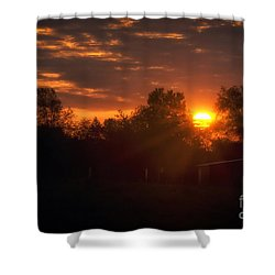 Hello Sunshine Shower Curtain by Thomas Woolworth