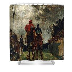 Henri De Toulouse Lautrec Shower Curtain by The Jockeys