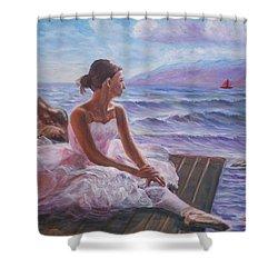 Her Dream Shower Curtain by Elena Sokolova