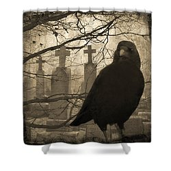 Her Graveyard Shower Curtain by Gothicolors Donna