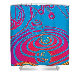 Her Navel Electric Vibrates Pulsates  Shower Curtain by Feile Case