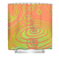 Her Navel Peach Vibrates Pulsates  Shower Curtain by Feile Case