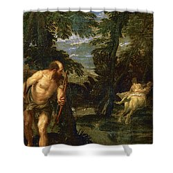 Hercules Deianira And The Centaur Nessus Shower Curtain by Paolo Veronese