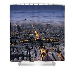 Here Comes The Fog  Shower Curtain by Ron Shoshani