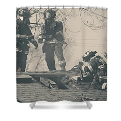 Heroes Shower Curtain by Laurie Search