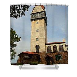 Heublein Tower Shower Curtain by Karol Livote