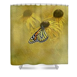 Hey Susan There Is That Butterfly Again Shower Curtain by Diane Schuster