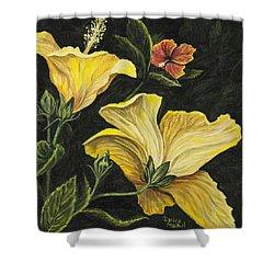 Hibiscus 2 Shower Curtain by Darice Machel McGuire