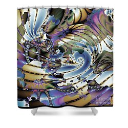 Hidden Chaos Of Order Shower Curtain by Elizabeth McTaggart