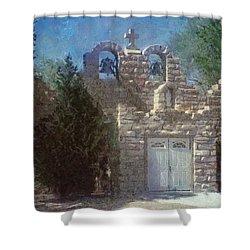 High Desert Church Shower Curtain by Jeff Kolker