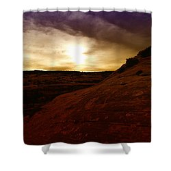 High Desert Clouds Shower Curtain by Jeff Swan