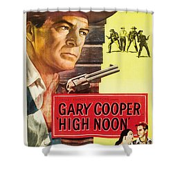 High Noon - 1952 Shower Curtain by Georgia Fowler