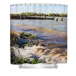 High Tide Shower Curtain by Dawn OConnor