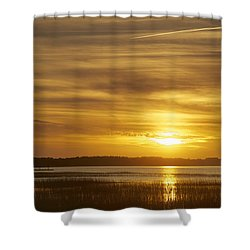 High Tide In The Marsh Shower Curtain by Phill Doherty