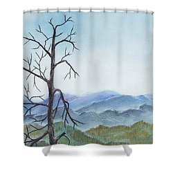 Highland Shower Curtain by Anastasiya Malakhova