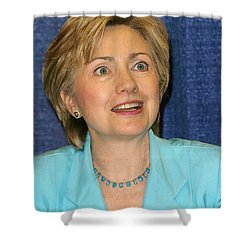 Hillary Clinton Shower Curtain by Nina Prommer