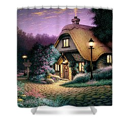 Hillcrest Cottage Shower Curtain by Steve Read