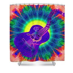 Hippie Guitar Shower Curtain by Bill Cannon
