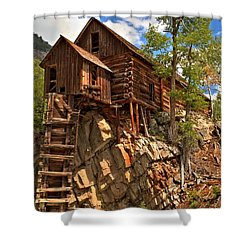 Historic Crystal Mill Shower Curtain by Adam Jewell