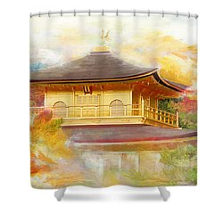 Historic Monuments Of Ancient Kyoto  Uji And Otsu Cities Shower Curtain by Catf