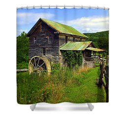 Historical Whites Mill Shower Curtain by Karen Wiles