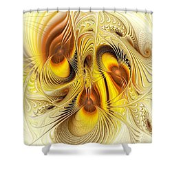 Hive Mind Shower Curtain by Anastasiya Malakhova
