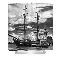 Hms Bounty Singer Island Shower Curtain by Debra and Dave Vanderlaan