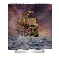 H.m.s Victory Shower Curtain by Jean Walker