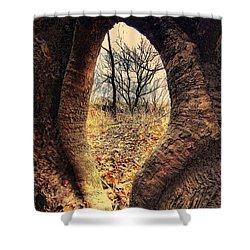 Hobbitt Vip Entrance Shower Curtain by Robert McCubbin