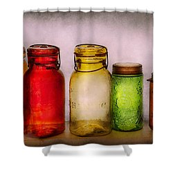 Hobby - Jars - I'm A Jar-aholic  Shower Curtain by Mike Savad