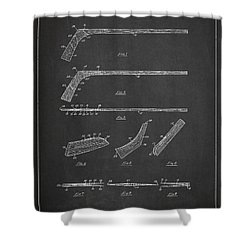 Hockey Stick Patent Drawing From 1934 Shower Curtain by Aged Pixel