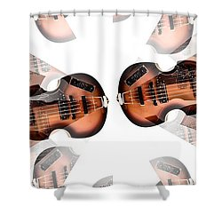 Hofner Bass Abstract Shower Curtain by Bill Cannon