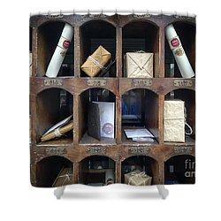 Hogsmeade Owl Post Office Shower Curtain by Edward Fielding