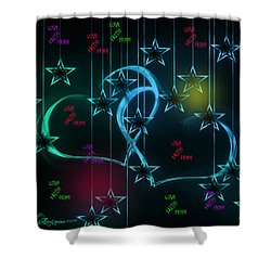 Holiday 2-featured In 'visions Of The Night And The Christian Connection' Shower Curtain by EricaMaxine  Price