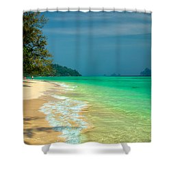 Holiday Destination Shower Curtain by Adrian Evans