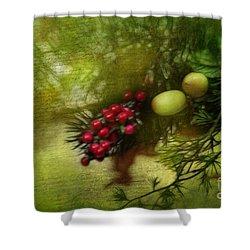 Holiday Season Shower Curtain by Judi Bagwell