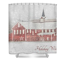 Holiday Wishes Shower Curtain by Lori Deiter