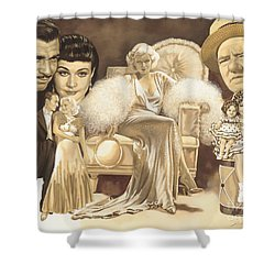 Hollywoods Golden Era Shower Curtain by Dick Bobnick