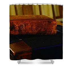 Holy Bible In Lincoln City Shower Curtain by Jeff Swan