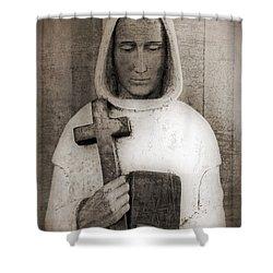 Holy Man Shower Curtain by Edward Fielding