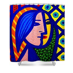 Homage To Pablo Picasso Shower Curtain by John  Nolan