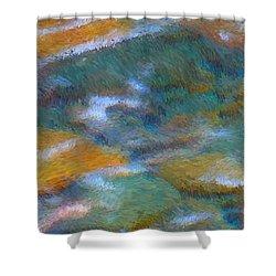 Homage To Van Gogh 2 Shower Curtain by Carol Groenen