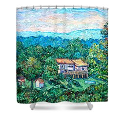Home In The Hills Shower Curtain by Kendall Kessler