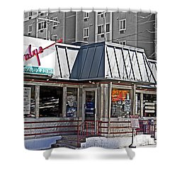 Home Of The Teeny Weenie Shower Curtain by Tom Gari Gallery-Three-Photography