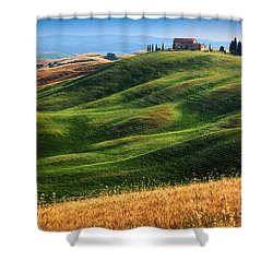 Home On The Hill Shower Curtain by Inge Johnsson