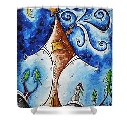 Home Sweet Home Shower Curtain by Megan Duncanson