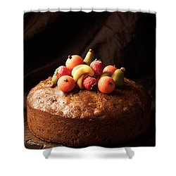 Homemade Rich Fruit Cake Shower Curtain by Amanda Elwell