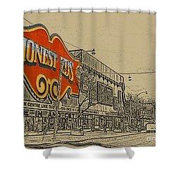 Honest Eds On Markham Street Shower Curtain by Nina Silver