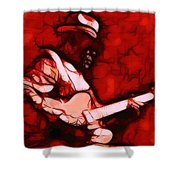 Honeyboy Shower Curtain by Terry Fiala