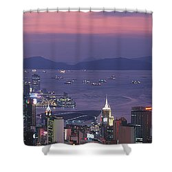 Hong Kong China Shower Curtain by Panoramic Images